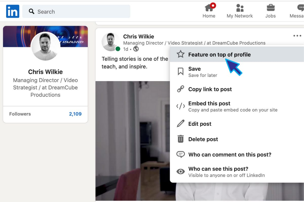 How to Embed Videos into LinkedIn Profiles